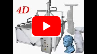 4 axis styrofoam cnc router  video