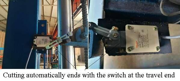 automatic eps cutter - travel switch unit